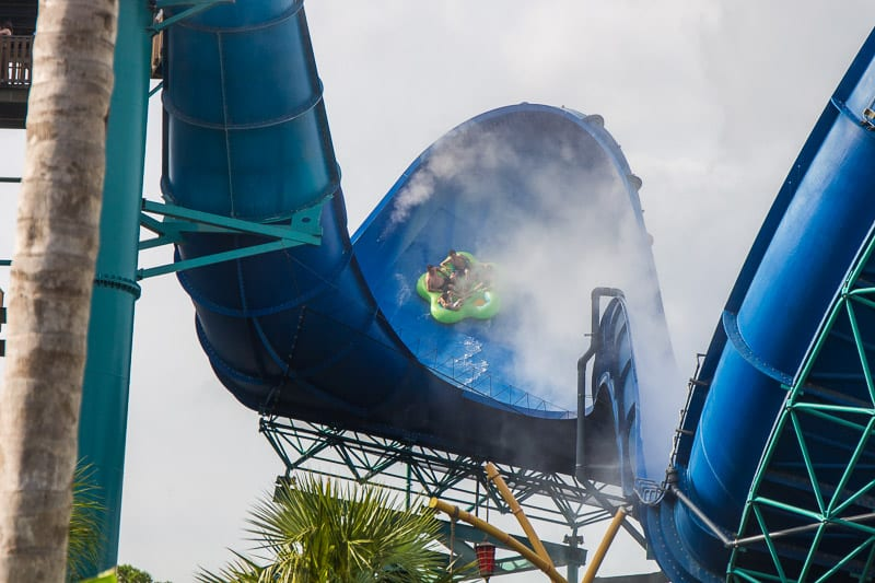 Water slide at Volcano Bay, Orlando