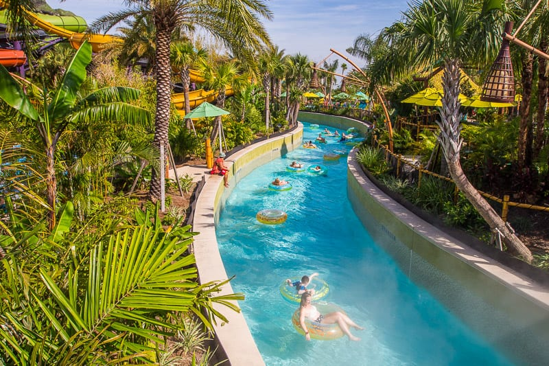 Lazy river at Volcano Bay