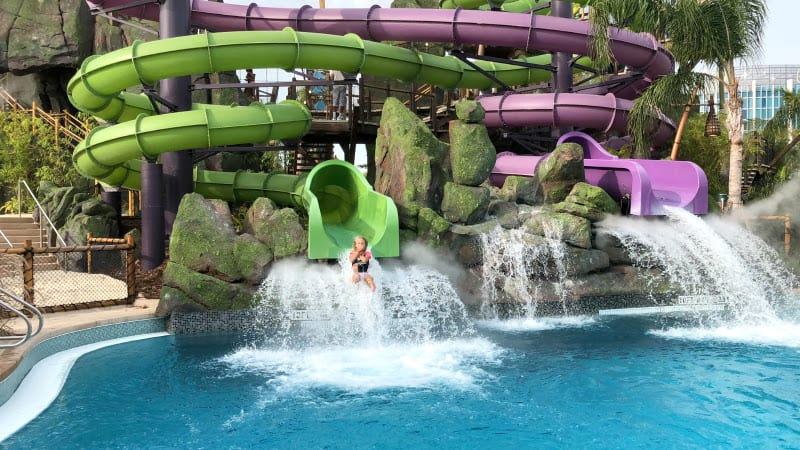 Water slide at Volcano Bay
