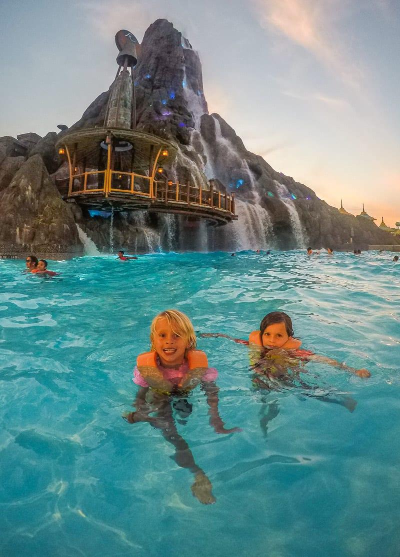 Universal's Volcano Bat Water Park in Orlando, Florida