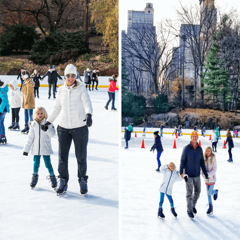 Go ice skating in Bryant Park - one of the best things to do in NYC with kids