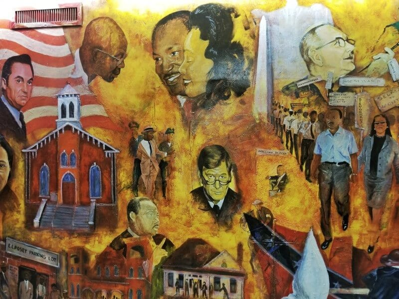 Civil Rights mural Dexter Baptist Church Montgomery al