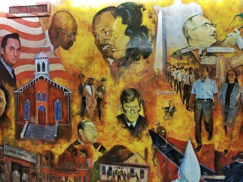 Civil Rights mural Dexter Baptist Church Montgomery al