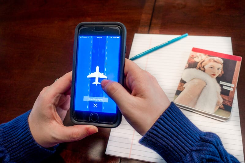 TravelBank business travel app for searching flights