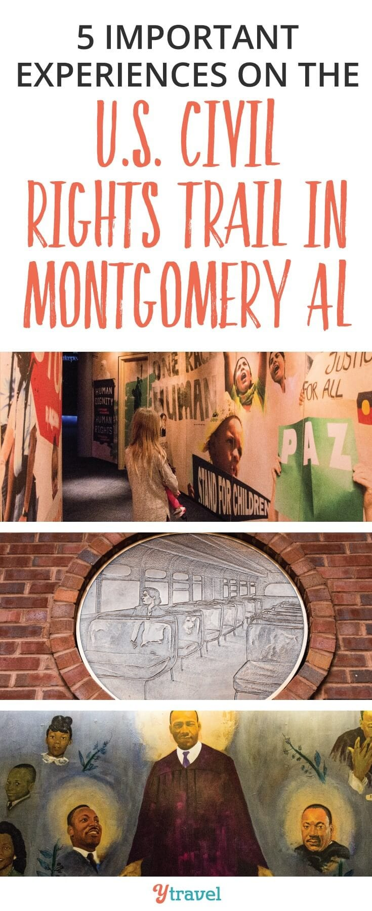 Things to do in Montgomery, AL: Montgomery Alabama is really the birthplace of Civil Rights Movement. There are five important experiences on the U.S. Civil Rights Trail in Montgomery Alabama that will help you gain an understanding of the struggles and the triumphs and how what happened here changed the world.