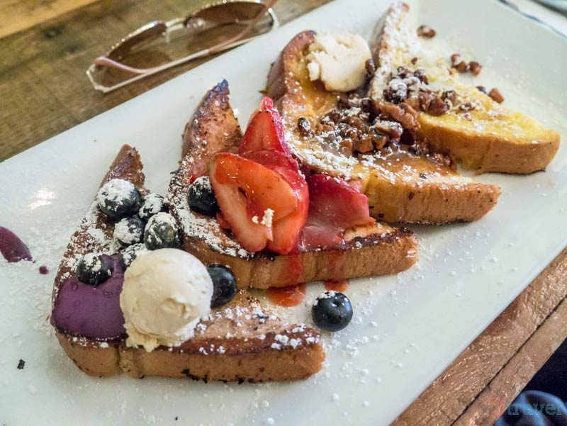 Batter & Berries french toast flight Chicago Illinois