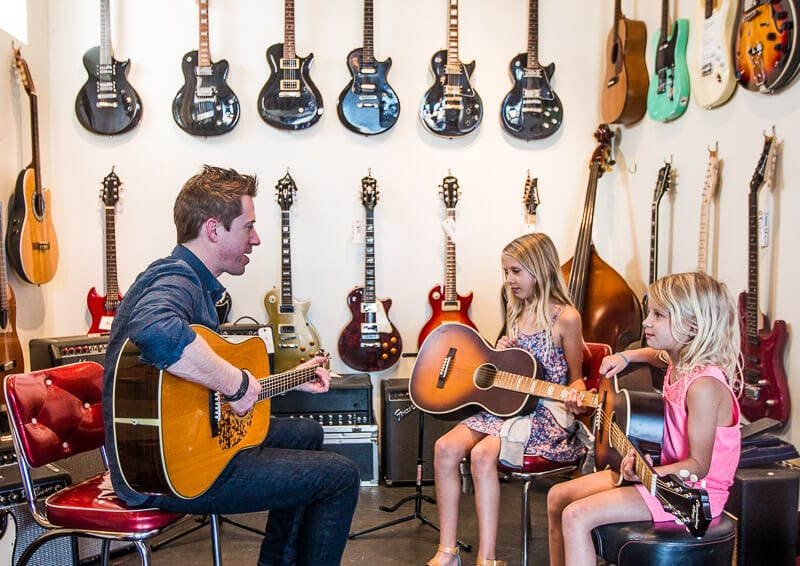 Guitar lessons at Fondren Guitars Jackson MS