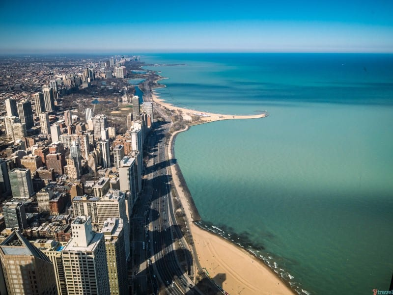 Lake Michigan views from 360 Observatory John Hancock Chicago (2)