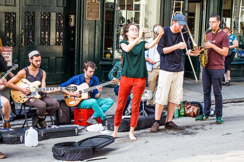 Buskers on Royal Street in the French Quarter