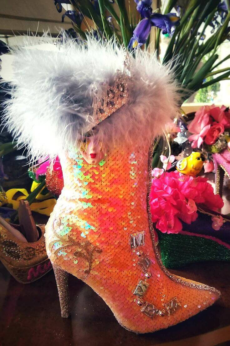 Check out these boots worn at Mardi Gras New Orleans