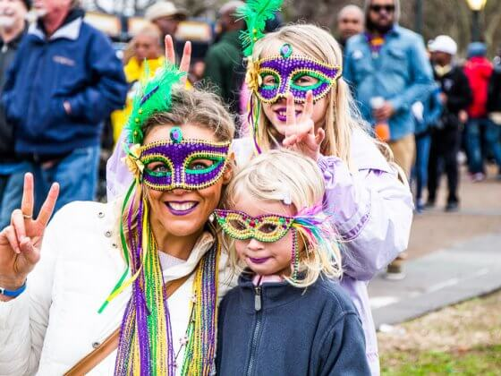 Things to do in New Orleans with kids - Enjoy the Mardi Gras Festival