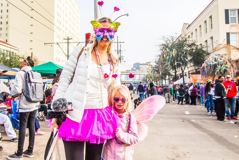 Doing the Mardi Gras Festival in New Orleans with kids
