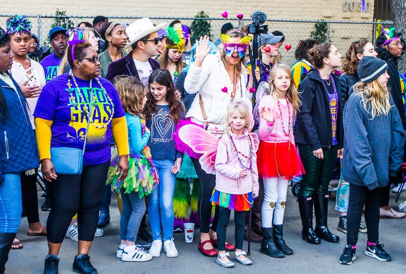 Regarder les défilés au Mardi Gras