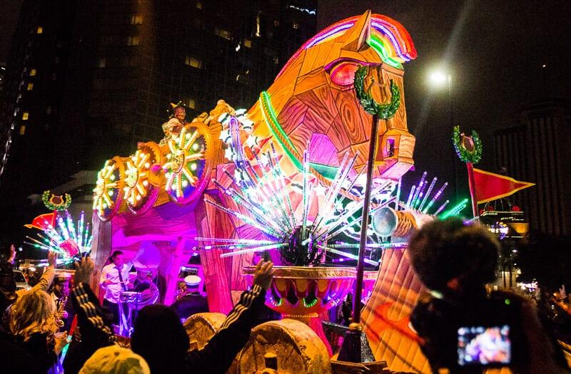 Défilé d'Orphée au Mardi Gras de la Nouvelle-Orléans