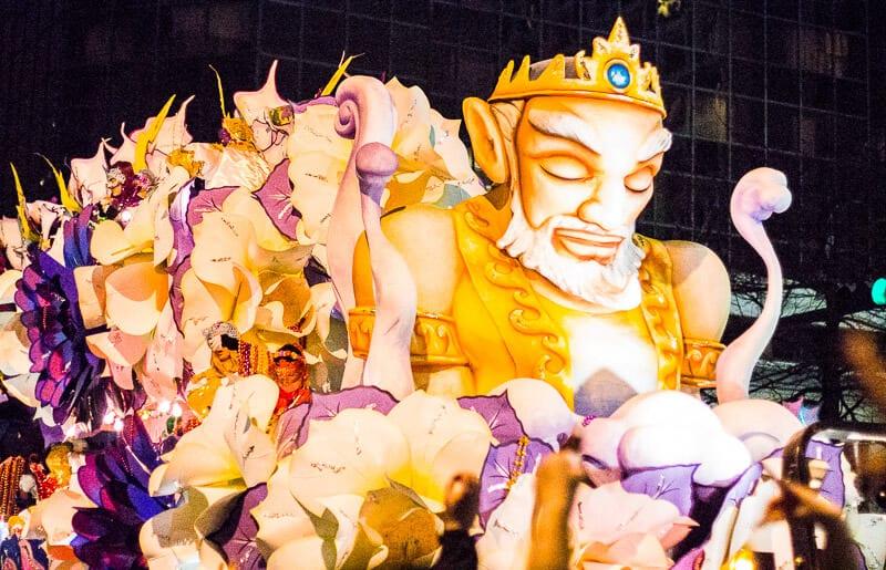 Défilé d'Orphée au Mardi Gras