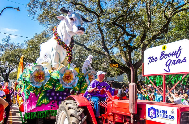 Rex Parade at Mardi Gras in New Orleans