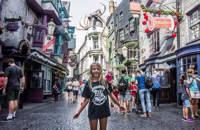 Diagon Alley - inside Universal Studios Orlando Parks