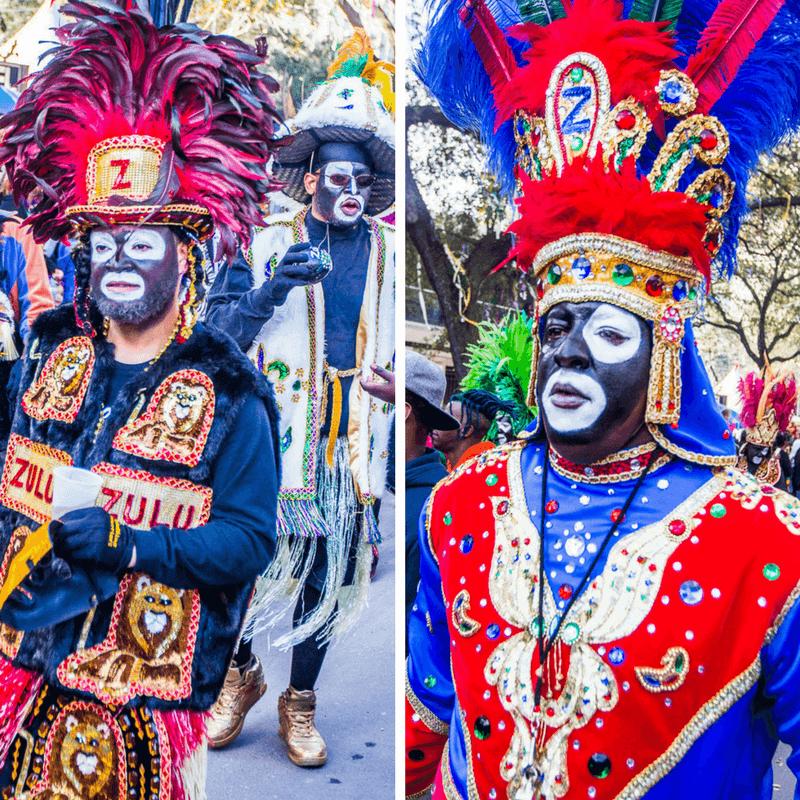 Défilé zoulou au Mardi Gras de la Nouvelle-Orléans