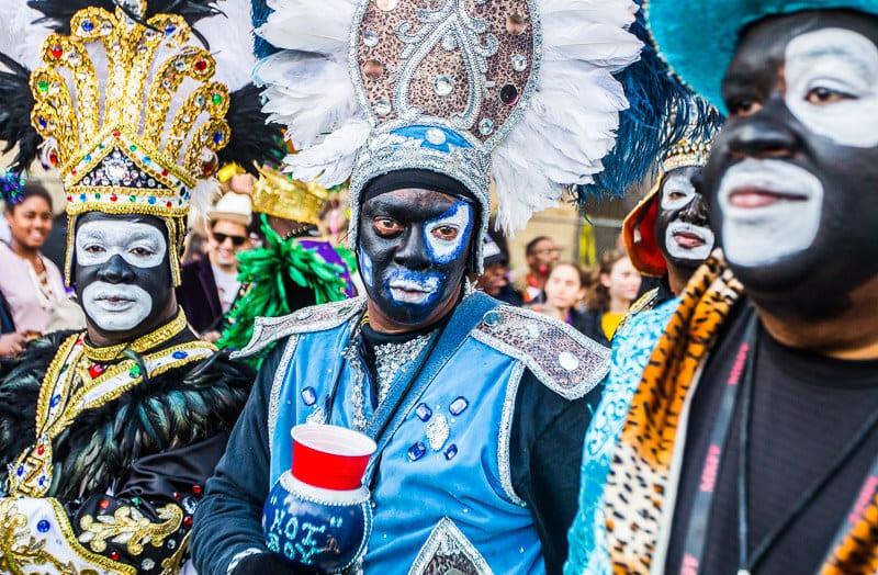 Défilé zoulou au Mardi Gras, La Nouvelle-Orléans