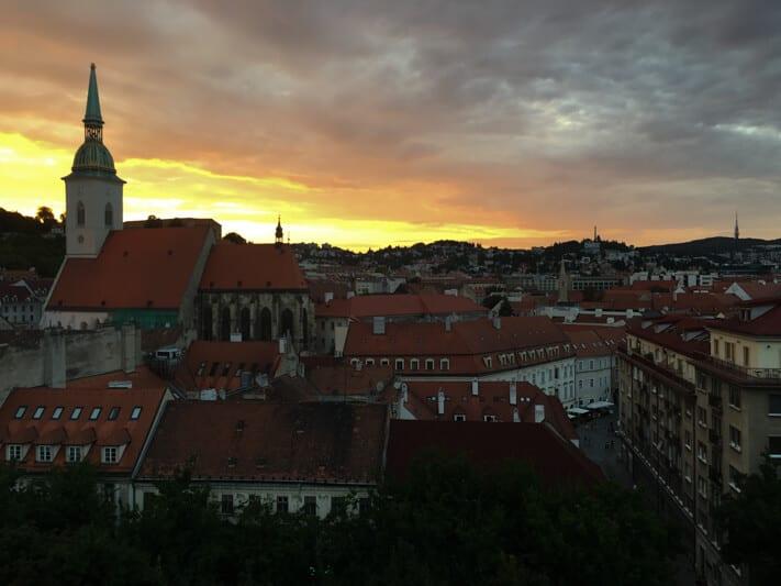 Sundowners over Bratislava