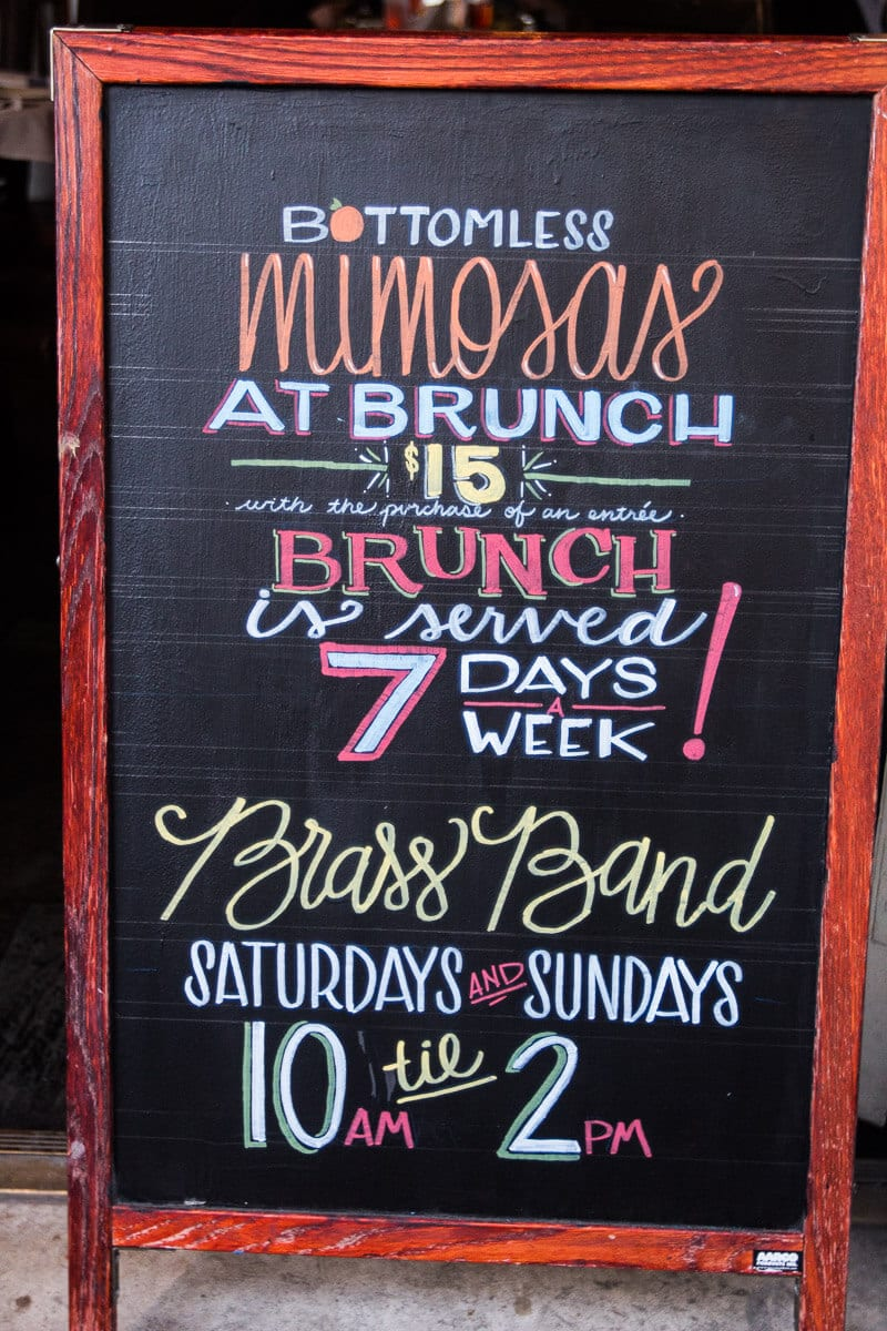 Love Mimosas? Get bottomless Mimosas for $15 during brunch at Dickie Brennan's Tableau in New Orleans