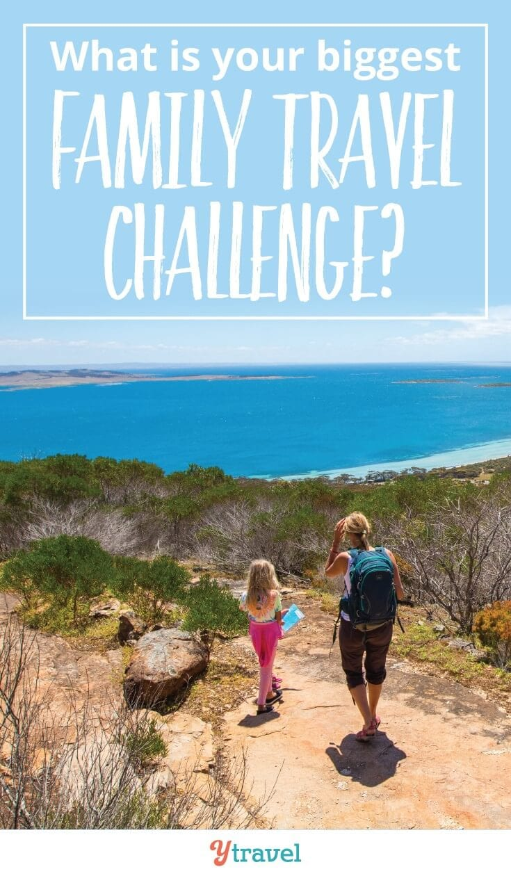 What is your biggest family travel challenge? Is it flying with kids, traveling with toddlers, or managing fussy eaters on the road? Do you have more than one thing that stresses you out about traveling with kids. Allow us to give you tips and solutions