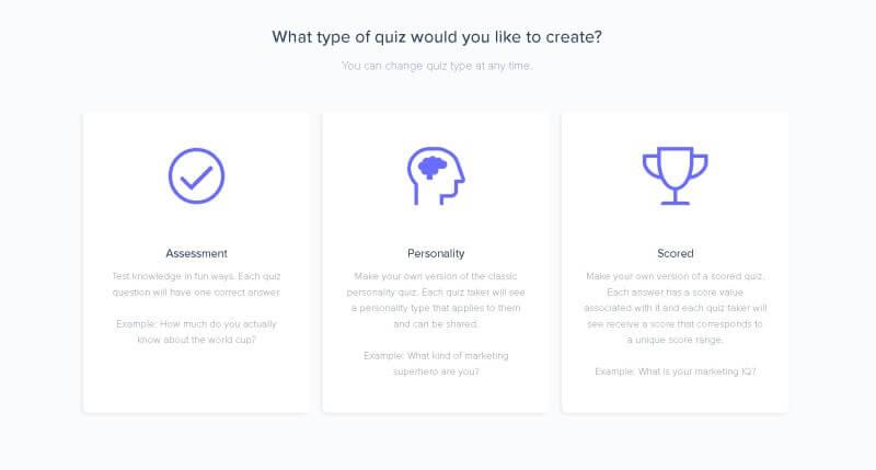 personality quiz builder