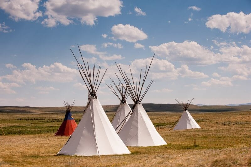 Blackfeet tipi cultural experience Montana