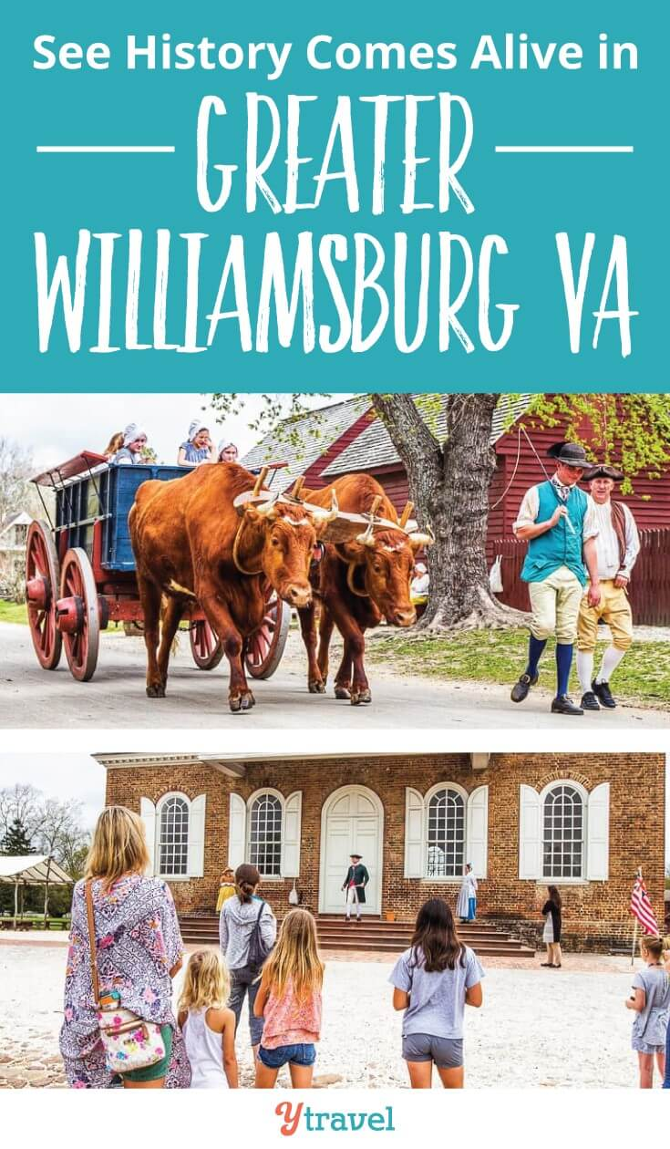Historic Williamsburg in Virginia is the place to see history come alive. There are so many great things to do in Greater Williamsburg with kids including Colonial Williamsburg, Jamestown Settlement and Yorktown Battlefields and American REvolution Museum. Click to read more. Happy pinning!