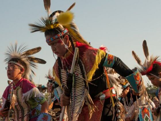 Native American Indian pow wow
