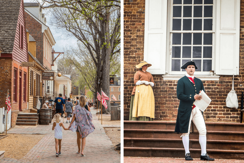 Things to do in Colonial Williamsburg VA with kids