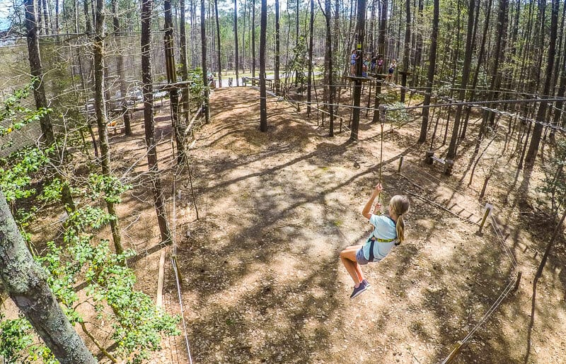 Go Ape Zip Lining in Williamsburg VA