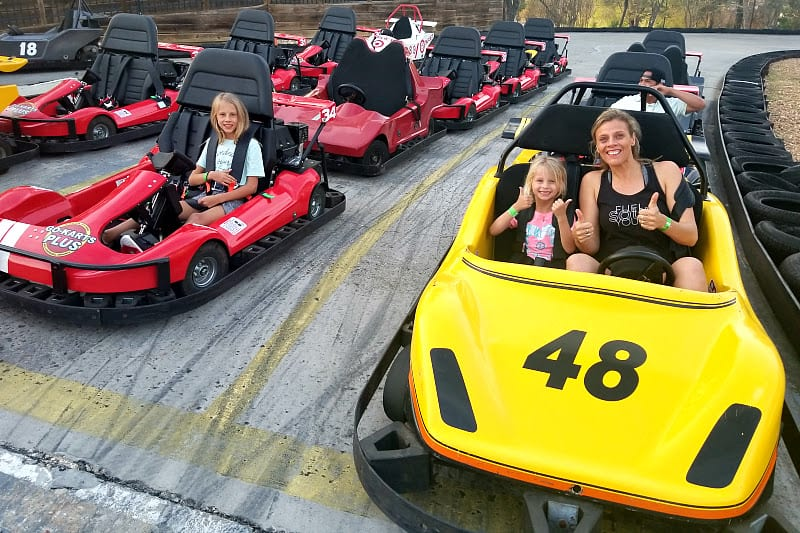 Fun at Go karts plus in Williamsburg VA