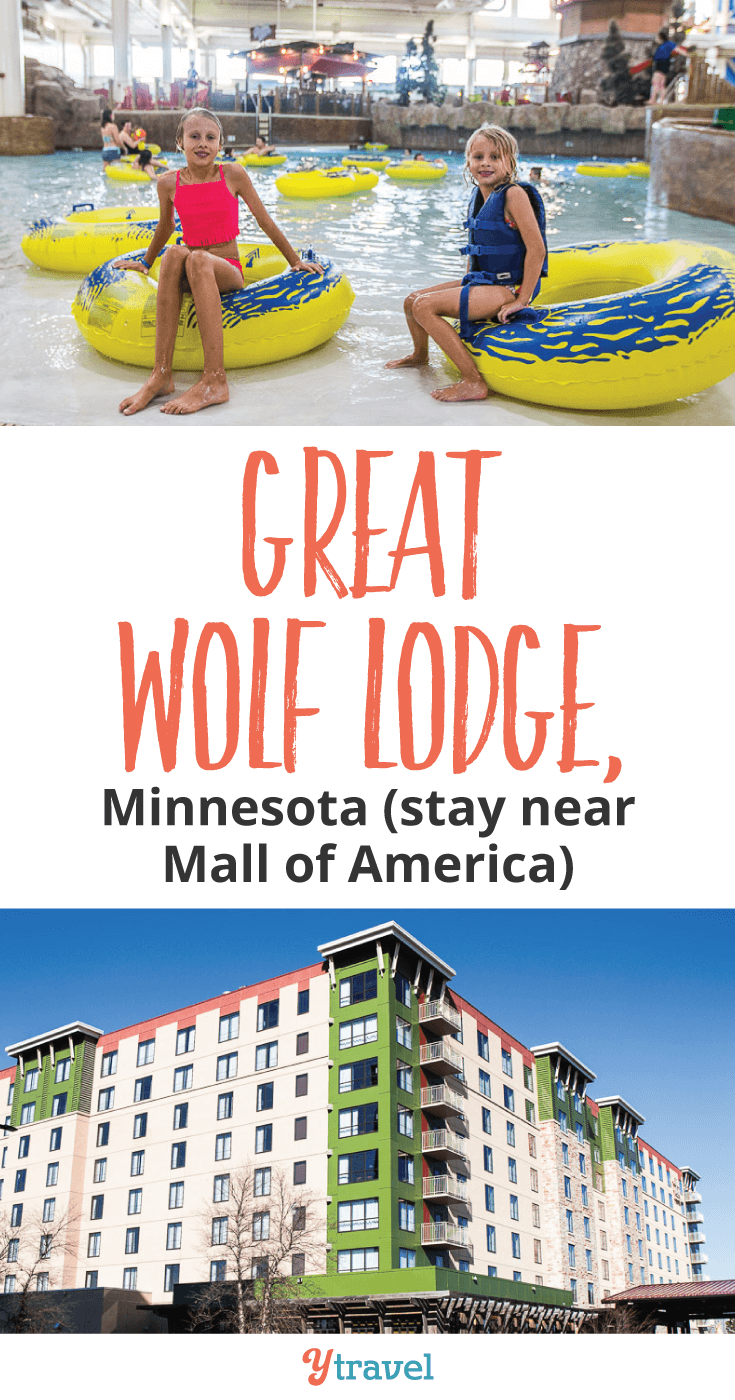 The Great Wolf Lodge in Bloomington, Minnesota is a great family-friendly hotel right near Mall of America. If you're planning a trip to Minneapolis with kids, consider staying here. Click inside to learn why!
