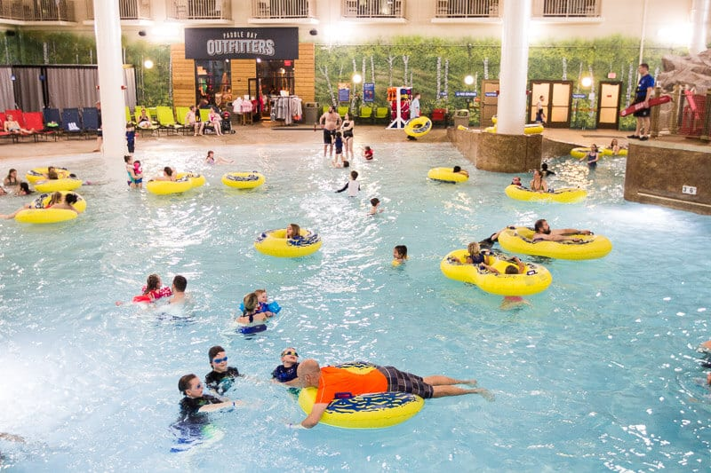 Wave pool at the Great Wolf Lodge, Minnesota