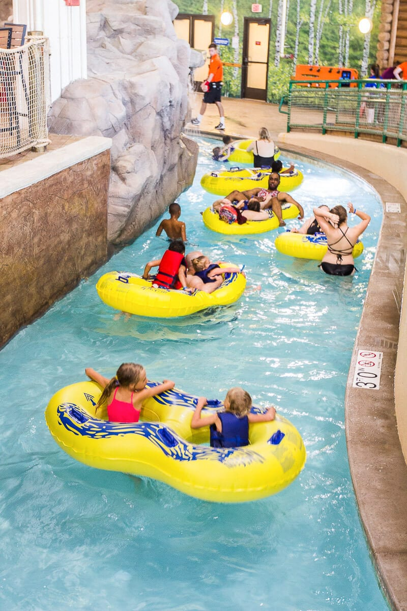 Lazy river at the Great Wolf Lodge, Minnesota.