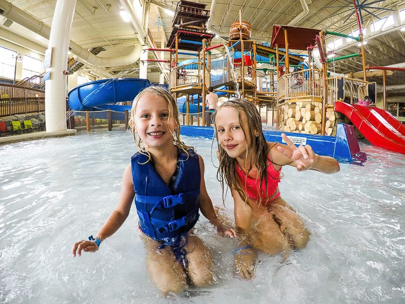 Water slides at Great Wolf Lodge, Minnesota