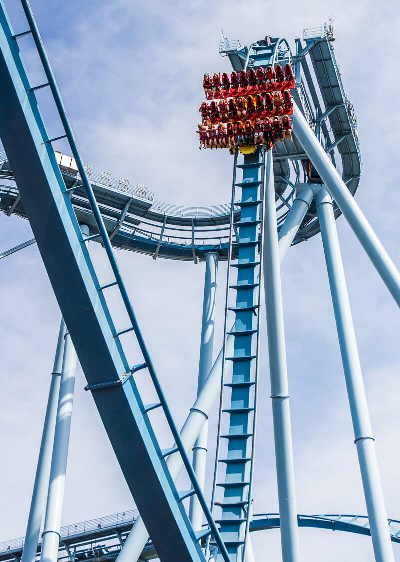 The Griffon roller coaster at Busch Gardens Williamsburg, Virginia