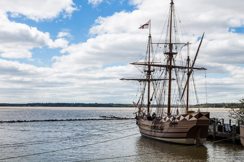 jamestown-settlement ships Greater Williamsburg VA