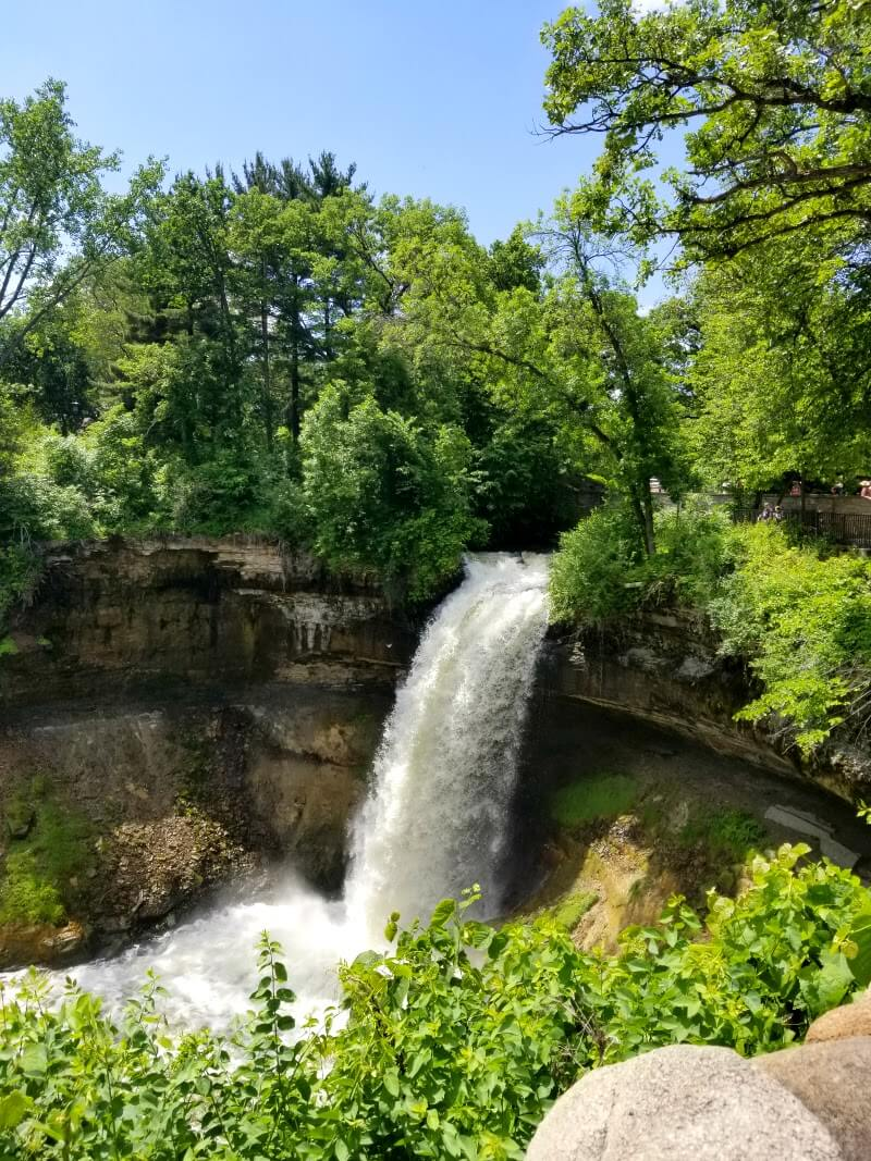 Minnehaha Falls. One of the best things to do in Bloomington, Minnesota.