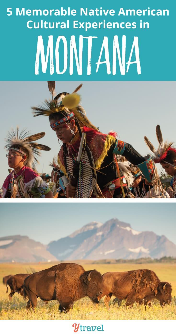 5 Native American cultural experiences to have in Montana. Learn about the colorful and fun powwows, Indian relays, Indian parades, art galleries, American Indian culture is alive and thriving in modern galleries, festivals and even sleeping in a tipi and horseback riding through the stunning Montana landscape. Click to learn more