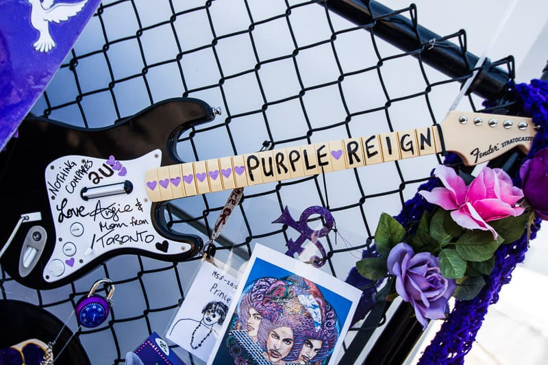 Tribute outside Paisley Park