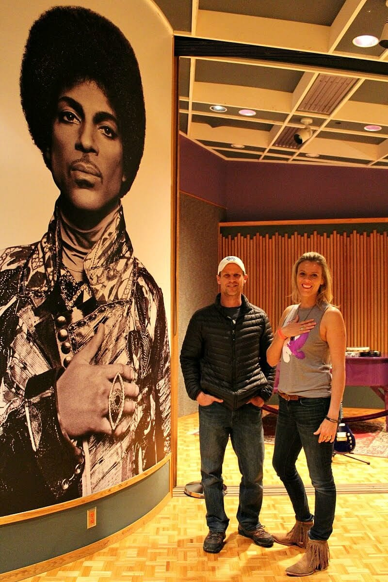 Inside Paisley Park. Photo taken by Tour Guide on our Prince Tour.