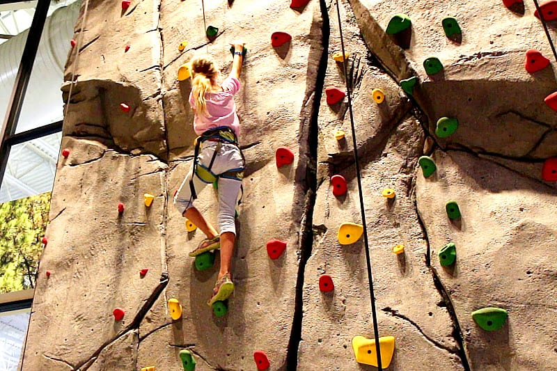 Rock climbing at Great Wolf Lodge, Bloomington MN