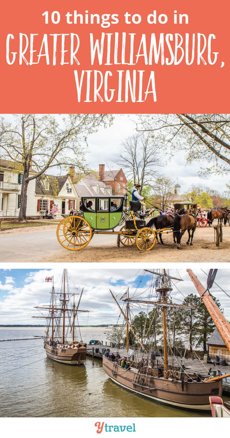 Top 10 things to do in Williamsburg, Virginia. If you are planning a trip to the Greater Williamsburg Area, check out this list of things to do, plus places to eat, plus where to stay!