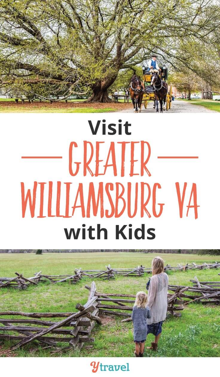 Historical Things to do in Greater Williamsburg VA with kids. Visit Colonial Williamsburg, Jamestown Settlement and Yorktown Battlefields and American REvolution Museum and see history come alive. No textbooks or classrooms needed. Click to read more. Happy Pinning