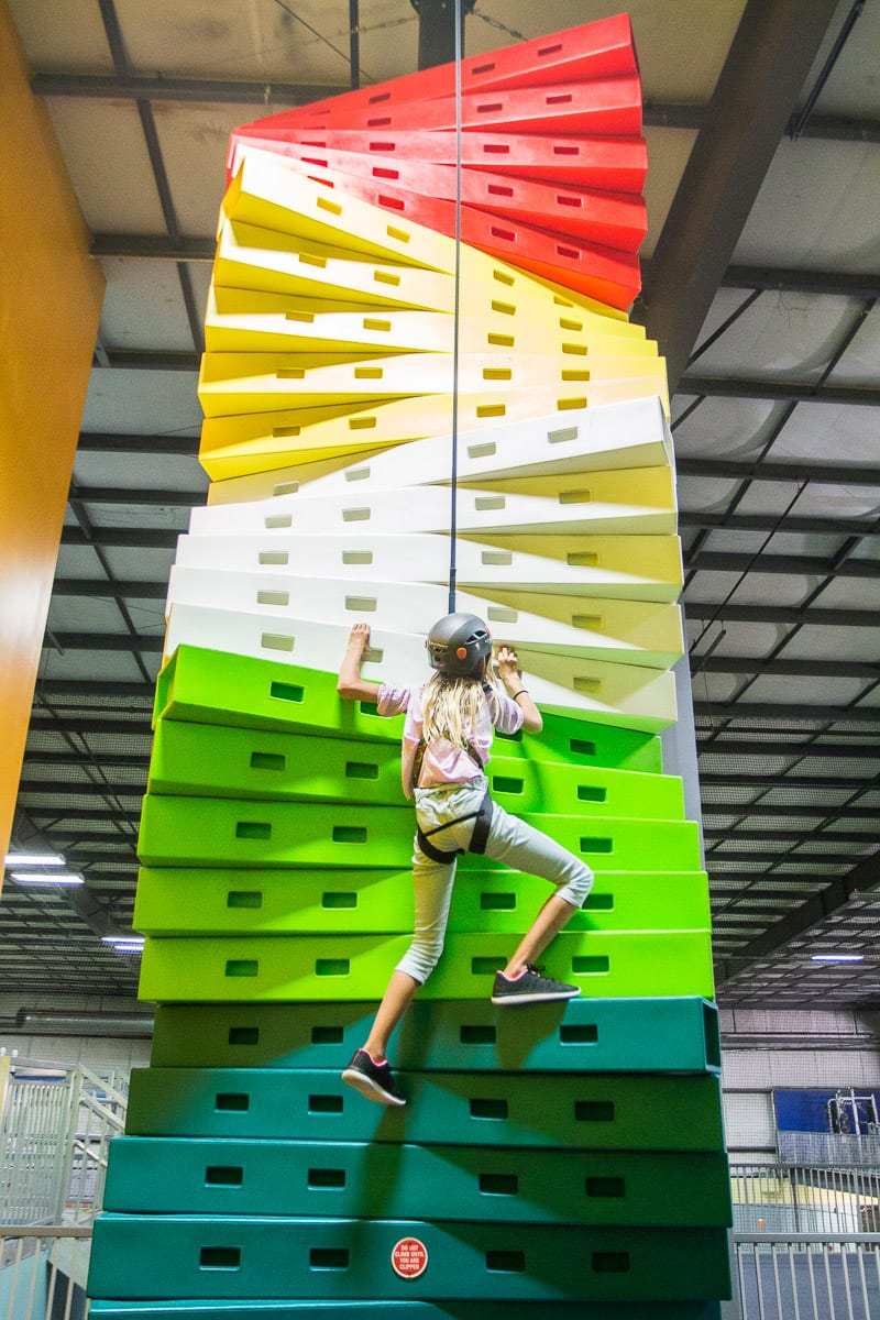 Inddor Rock Climbing at Williamsburh Indoor Sports Center (WISC)