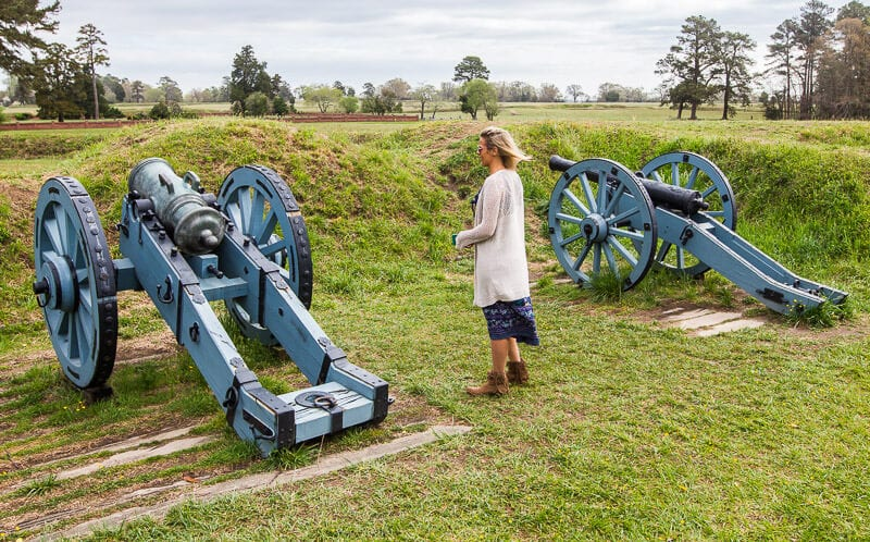 Yorktown Battlefield Driving tour Greater Williamsburg VA