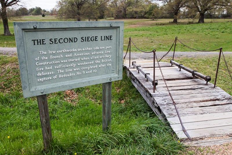 Yorktown battlefield siege line