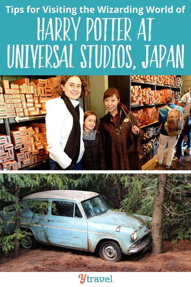 A guide to the Wizarding World of Harry Potter at Universal Studios in Japan. Click to read our guide on how you can gave a great time. It's one of the best things to do in Japan with kids.